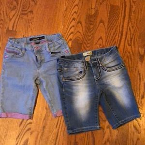Bundle two pairs of girl jean shorts